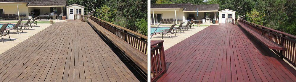 Staining a Wood Deck