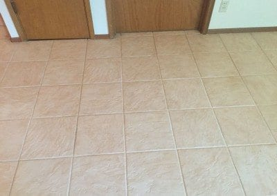 a tile and grout after